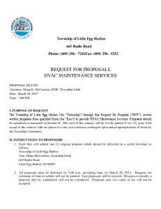 REQUEST FOR PROPOSALS HVAC MAINTENANCE SERVICES
