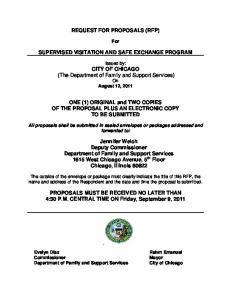 REQUEST FOR PROPOSALS (RFP) SUPERVISED VISITATION AND SAFE EXCHANGE PROGRAM