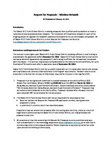 Request for Proposals Wireless Network