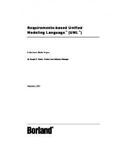 Requirements-based Unified Modeling Language (UML )