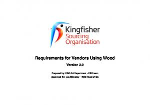 Requirements for Vendors Using Wood