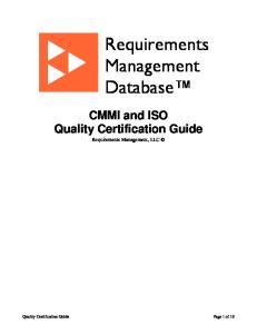 Requirements Management Database