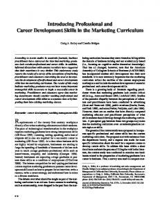 Requirements of the twenty-first-century workplace. Introducing Professional and Career Development Skills in the Marketing Curriculum