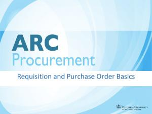 Requisition and Purchase Order Basics
