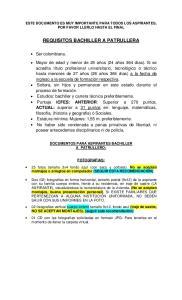 REQUISITOS BACHILLER A PATRULLERA