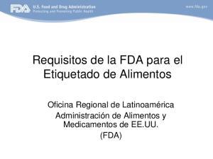 Requisitos de la FDA para el Etiquetado de Alimentos