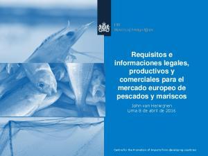 Requisitos e informaciones legales, productivos y comerciales para el mercado europeo de pescados y mariscos