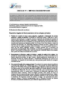 Requisitos legales de funcionamiento de los colegios privados