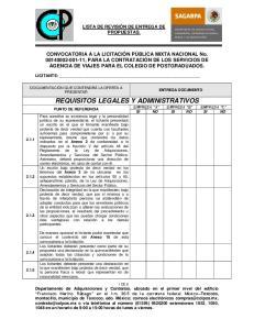 REQUISITOS LEGALES Y ADMINISTRATIVOS