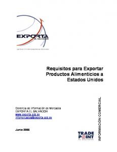 Requisitos para Exportar Productos Alimenticios a Estados Unidos