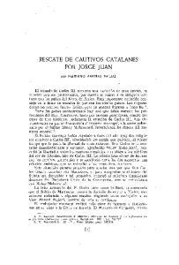 RESCATE DE CAUTIVOS CATALANES POR JORGE JUAN
