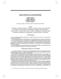 RESCATE DE LAS CONCESIONES