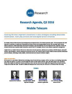 Research Agenda, Q Mobile Telecom