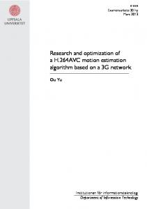 Research and optimization of a H.264AVC motion estimation algorithm based on a 3G network