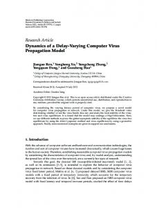 Research Article Dynamics of a Delay-Varying Computer Virus Propagation Model