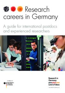 Research careers in Germany