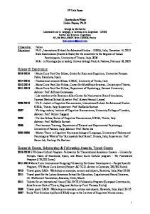 Research Grants, Scholarship & Fellowship Awards, Travel Grants