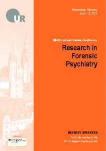 Research in Forensic Psychiatry