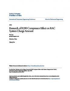 Research of R290 Compressor Effect on RAC System Charge Amount