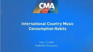 Research Overview. Defining the Country Music Audience. Appetite for Country Music and Access. Perceptions of the Country Genre