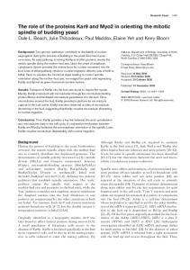 Research Paper Address: Department of Biology, University of North Carolina, 212 Coker Hall CB3280, Chapel Hill, North Carolina , USA