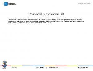 Research Reference List