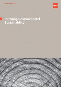 Research report 116. Pursuing Environmental Sustainability