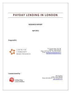 RESEARCH REPORT. April 2012