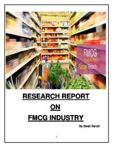 RESEARCH REPORT ON FMCG INDUSTRY
