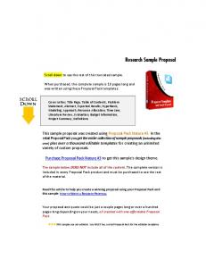 Research Sample Proposal