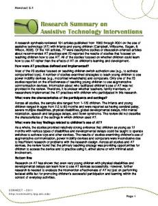 Research Summary on Assistive Technology Interventions