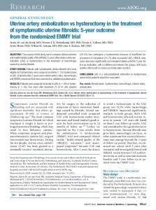 Research. Symptomatic uterine fibroids are