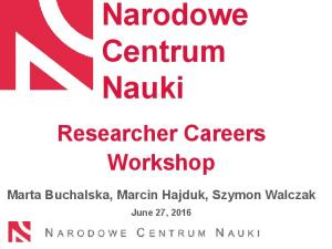 Researcher Careers Workshop