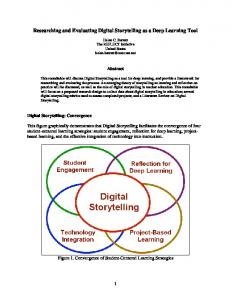 Researching and Evaluating Digital Storytelling as a Deep Learning Tool