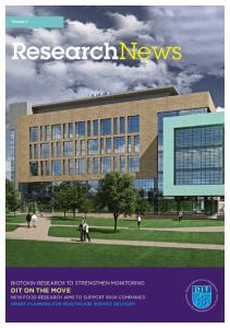 ResearchNews DIT ON THE MOVE NEW FOOD RESEARCH AIMS TO SUPPORT IRISH COMPANIES SMART PLANNING FOR HEALTHCARE SERVICE DELIVERY