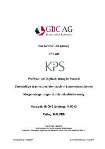 Researchstudie (Anno) KPS AG