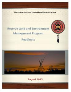 Reserve Land and Environment Management Program Readiness