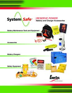 RESERVE POWER Battery and Charger Accessories