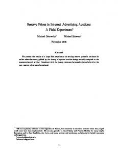 Reserve Prices in Internet Advertising Auctions: A Field Experiment