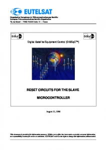 RESET CIRCUITS FOR THE SLAVE MICROCONTROLLER