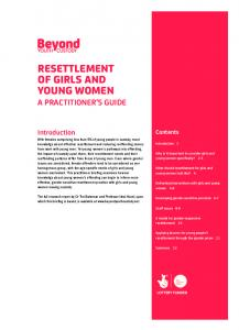 RESETTLEMENT OF GIRLS AND YOUNG WOMEN