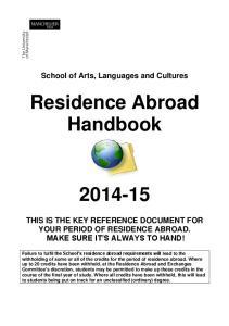 Residence Abroad Handbook