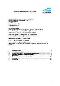 RESIDENCIA DE ORTOPEDIA Y TRAUMATOLOGÍA