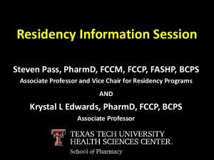 Residency Information Session