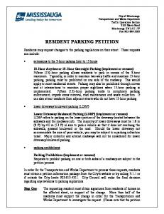 RESIDENT PARKING PETITION