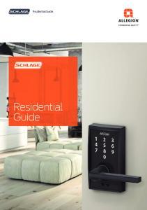 Residential Guide Residential Guide