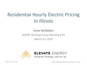 Residential Hourly Electric Pricing in Illinois