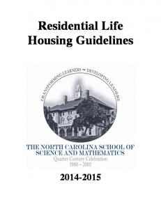 Residential Life Housing Guidelines