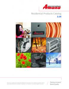 Residential Products Catalog 2.16