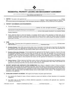 RESIDENTIAL PROPERTY LEASING AND MANAGEMENT AGREEMENT